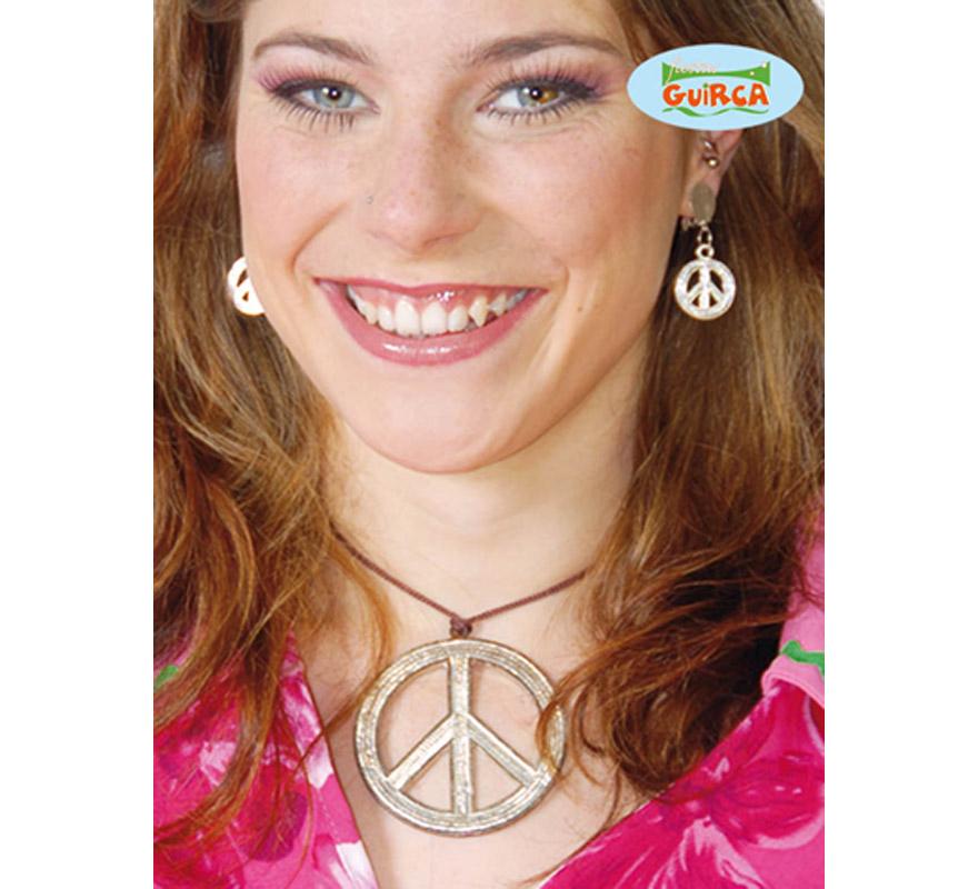 Colgante Hippie símbolo de la Paz. Los pendientes los podrás ver con la ref. 16566GUI.