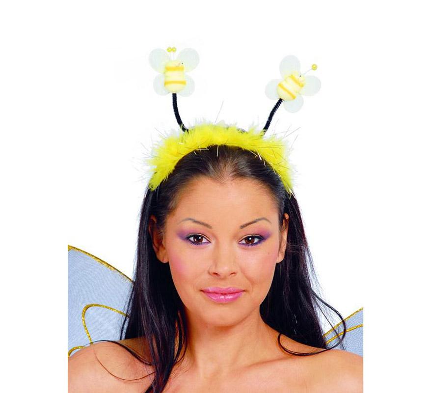 Diadema de abeja con marabú. Nos la compran mucho para Despedidas de Soltera.