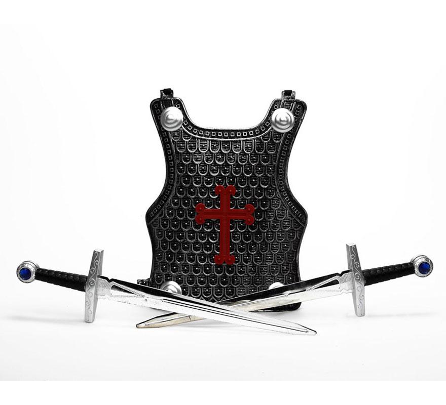 Set de 2 espadas Cruzadas con armadura