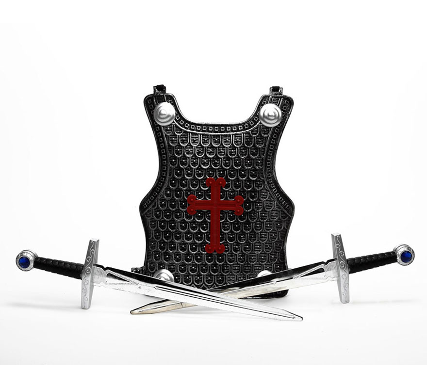 Set de 2 espadas Cruzadas o Guerrero con armadura.
