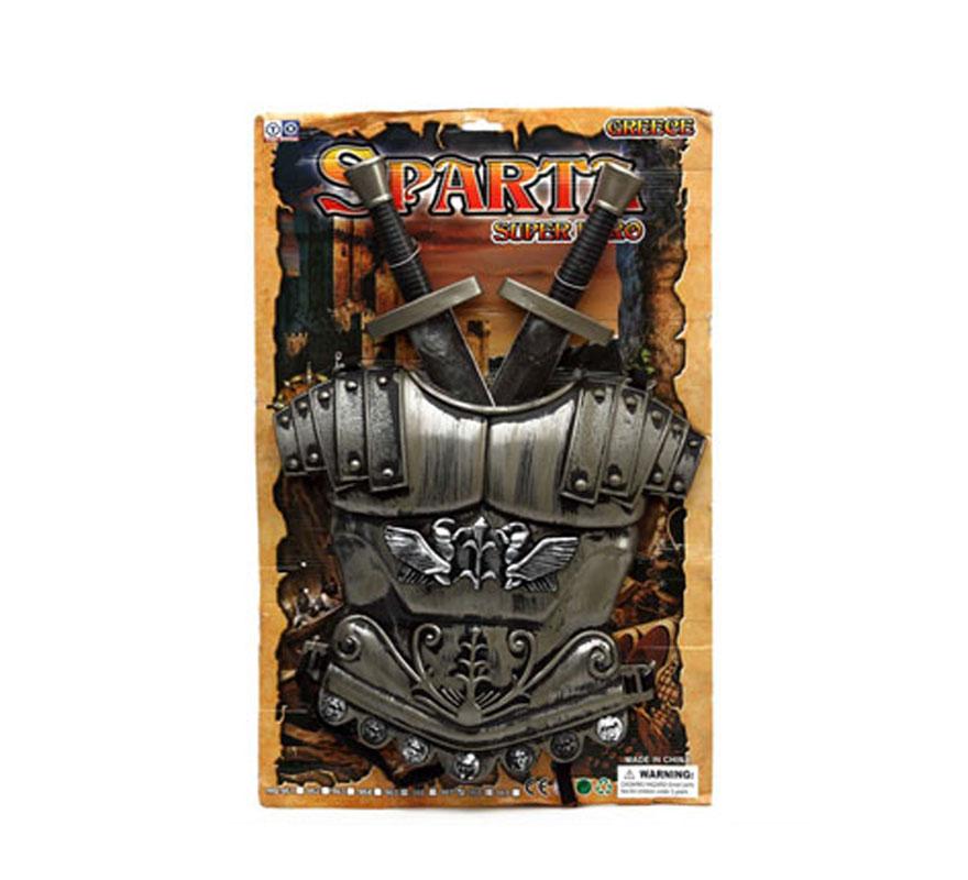 Set de 2 espadas de Espartano con escudo