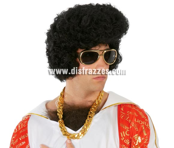Cadena imitación oro. Perfecta para disfraz de Elvis Rey del Rock o Discotequero y por supuesto para disfrazarse de M.A. Barracus, el legendario negro del Equipo A.