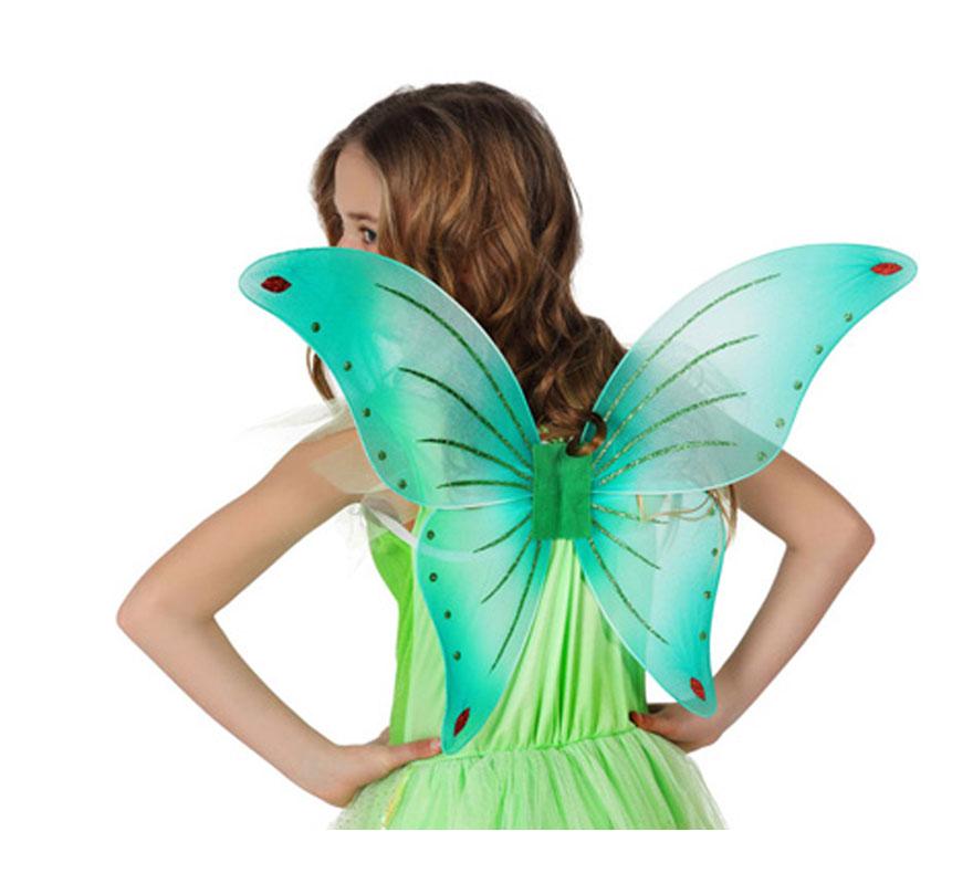 Alas de Mariposa o de Hada verde de 40x45 cm.