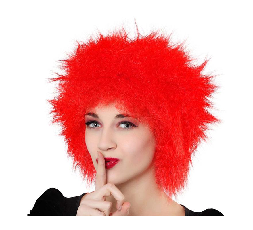 Peluca punky roja.