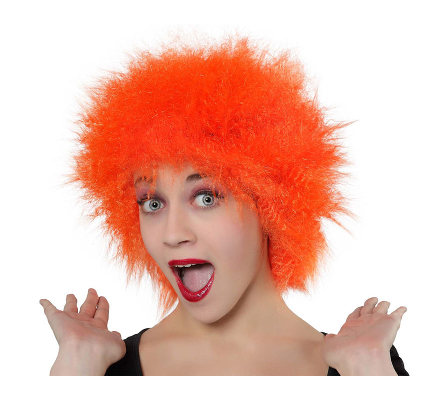 Peluca Punky naranja.