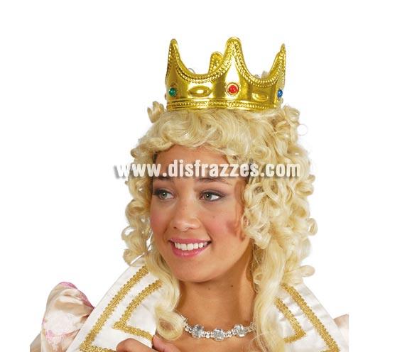 Corona Reina o Rey oro. Perfecta para los disfraces de Rey Mago en Navidad.