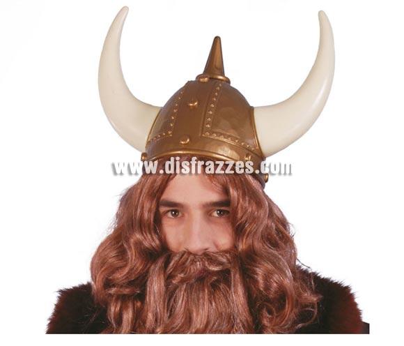Casco de Vikingo con cuernos.