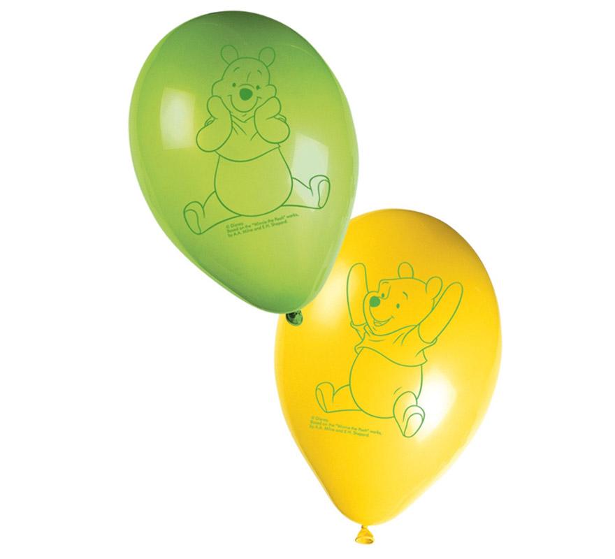 Bolsa de 8 globos Winnie.