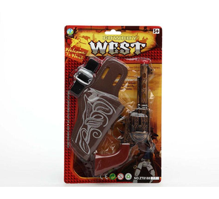 Pistola de Cowboy o Vaquero con cartuchera.
