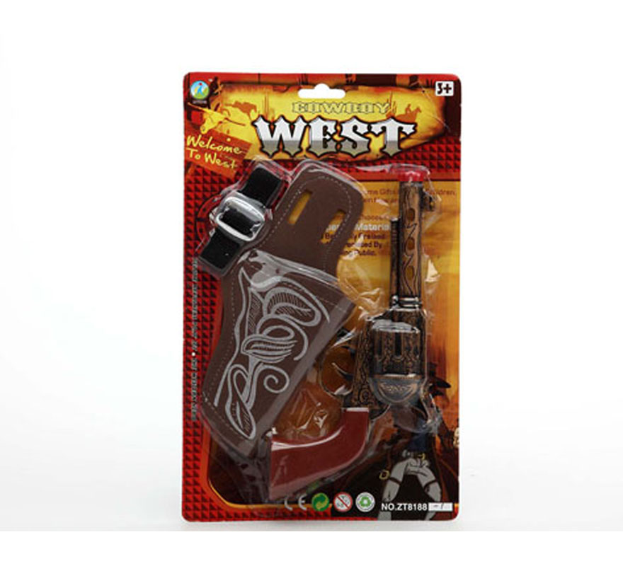 Pistola de Cowboy con cartuchera
