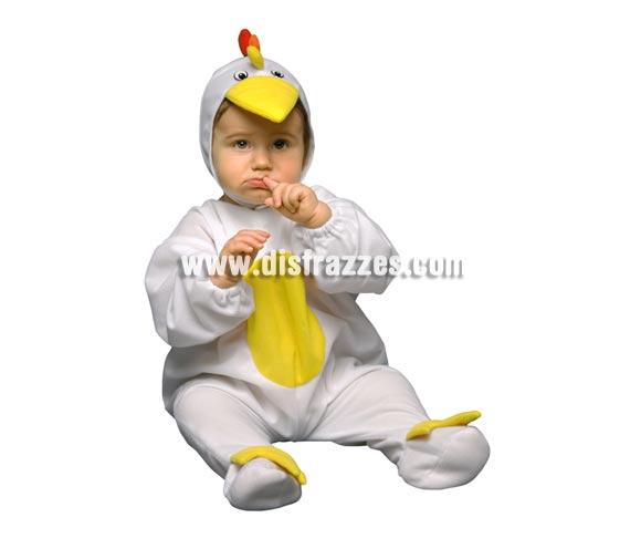 Disfraz barato de Pollito para bebés de 6 a 12 meses. Incluye mono y capucha.