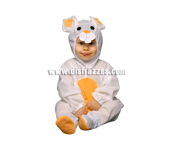 Disfraz barato de Conejito o Conejo para bebés de 6 a 12 meses. Incluye mono y gorro.