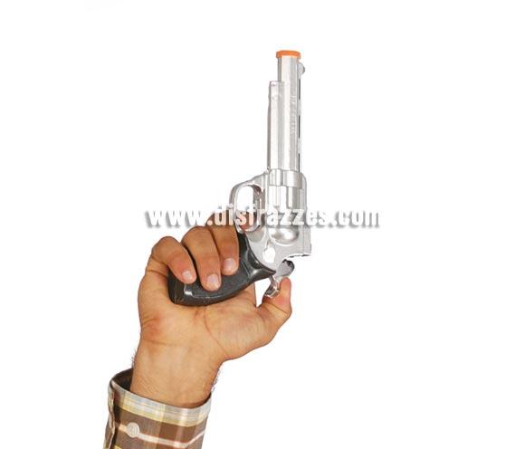 Revolver o pistola 23 cm. Perfecto para disfraces de Vaquero o Pistolero del lejano Oeste.