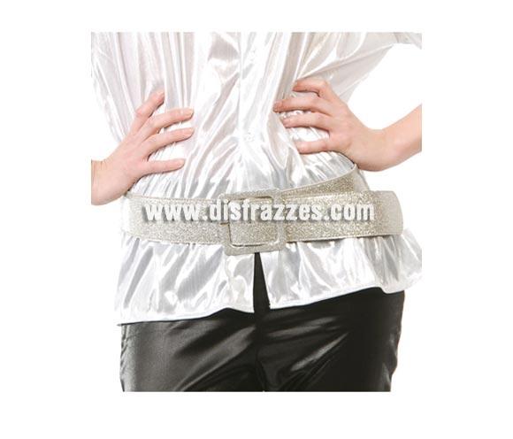 Cinturón o Correa de color plata. Perfecto para disfraces de los años 60, 70 y 80.