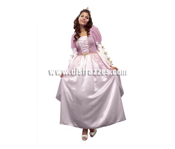 Disfraz de Princesa Rosa para mujer. Talla standar M-L = 38/42. Incluye vestido y tocado. Éste disfraz también puede servir como disfraz de Dama Renacentista.