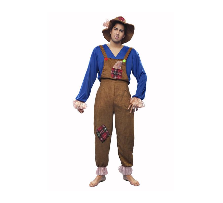 Disfraz de Espantapájaros para hombre. Talla M-L = 52/54. Incluye disfraz completo. Éste traje es perfecto para alguien que quiera disfrazarse de la película El Mago de Hoz con Dorothy, el León y el Sr. de Hojalata.