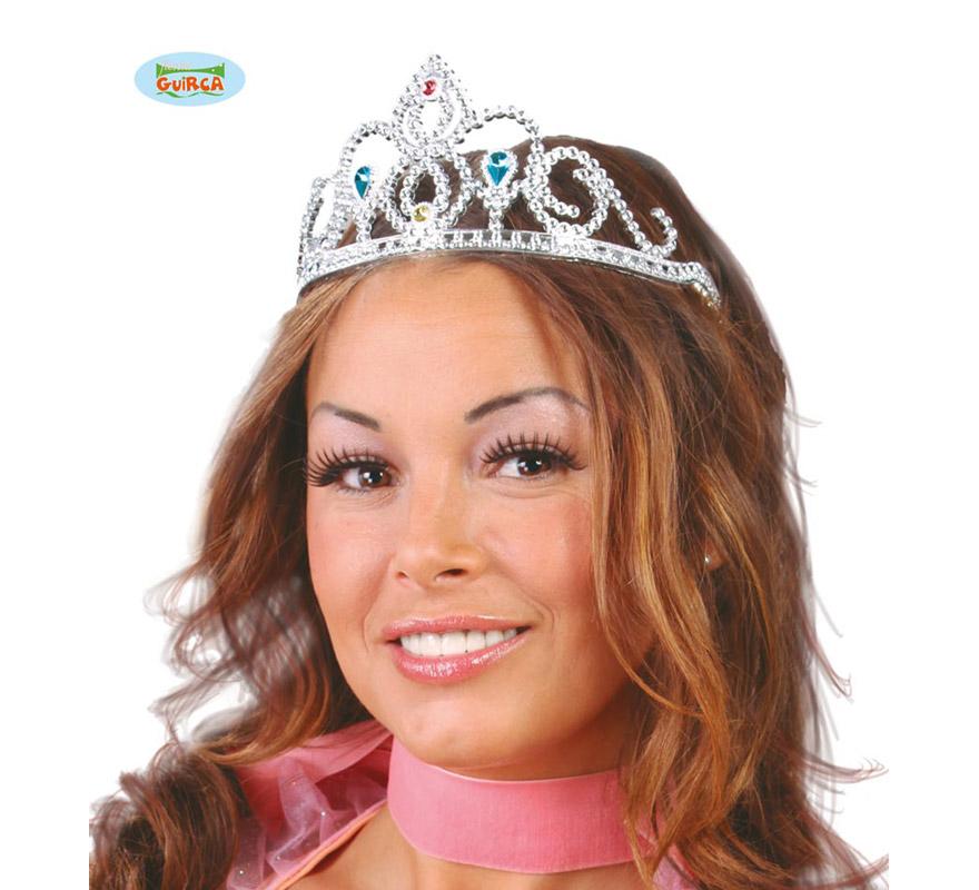 Diadema o Tiara plata para Princesas.
