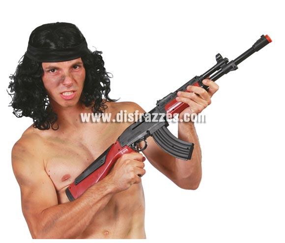 Fusil Ruso Kalashnikov AK-47 de 77 cm.. Perfecto para los disfraces de Militar o de Rambo.