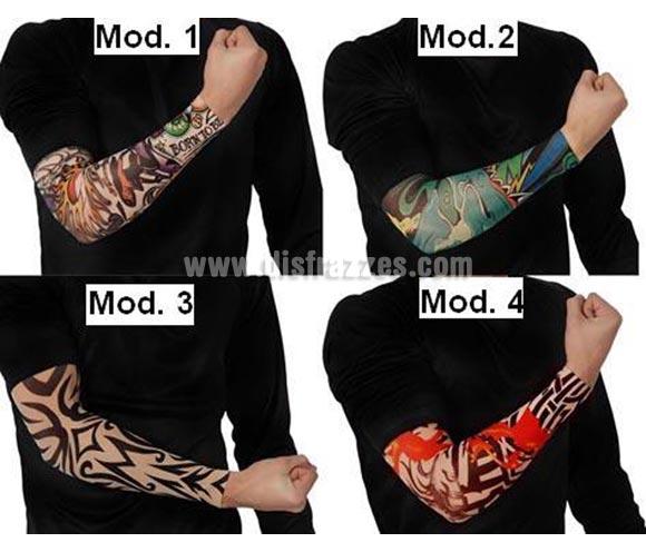 Tatuaje brazo. Hay 4 modelos surtidos. Precio por unidad, se venden por unidad. Perfecto para disfraces de Motero o Sado, también Punk.