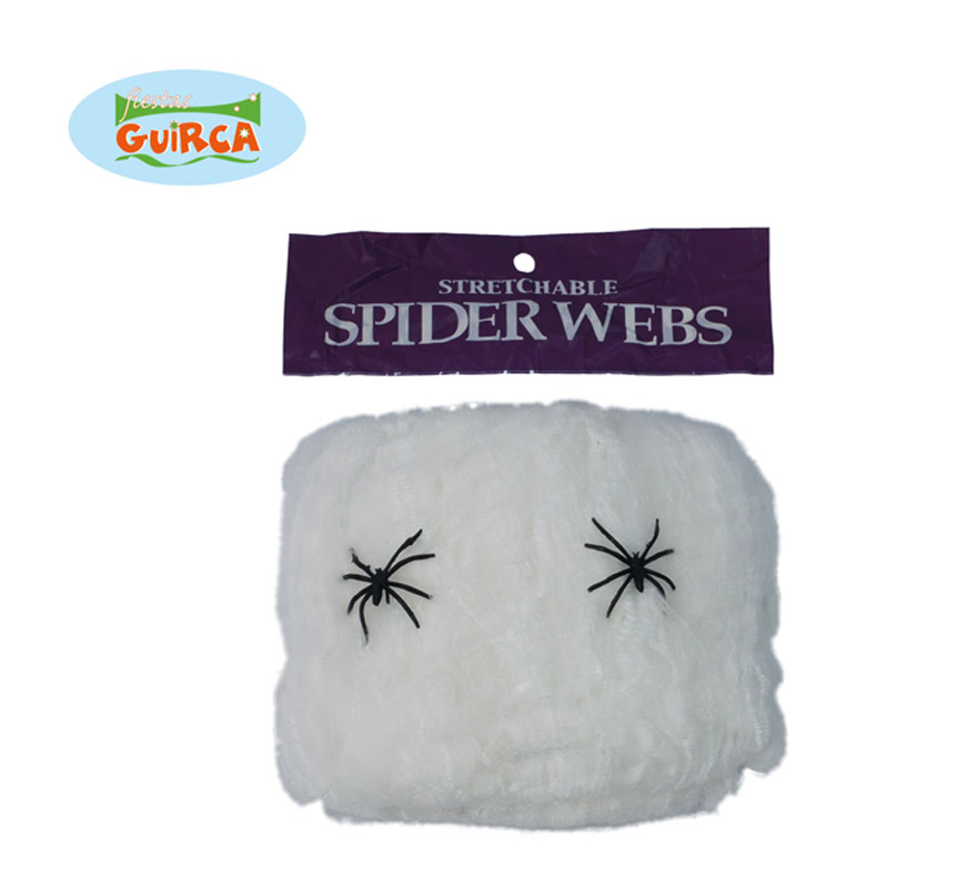 Telaraña 20 gr. Perfecta para decorar cualquier lugar en Halloween.