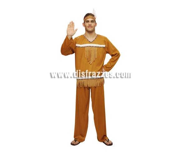Disfraz barato de Indio para hombre. Talla Standar M-L = 52/54. Incluye tocado, camisa y pantalón.
