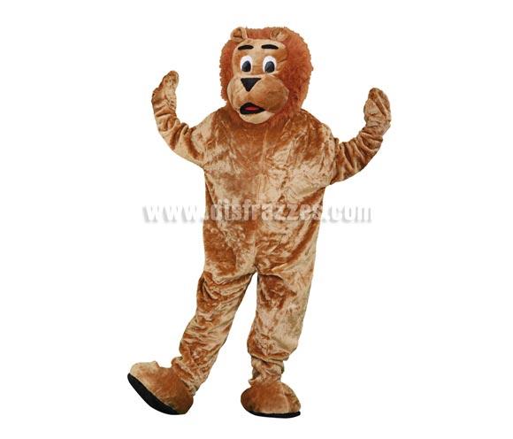 Disfraz o Mascota León. Talla Universal de adultos. Incluye cabeza, mono con guantes y cubre zapatos. Perfecta para Grupos de Animación Infantil, Hoteles, etc.