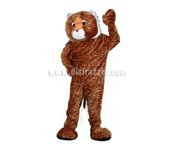 Disfraz o Mascota Tigre. Talla Universal de adultos. Incluye cabeza, mono con guantes y cubre zapatos. Perfecta para Grupos de Animación Infantil, Hoteles, etc.