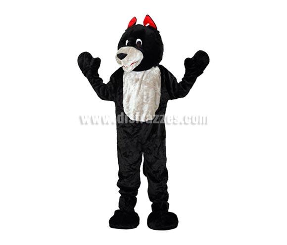 Disfraz o Mascota Lobo. Talla Universal de adultos. Incluye cabeza, mono con guantes y cubre zapatos. Perfecta para Grupos de Animación Infantil, Hoteles, etc.