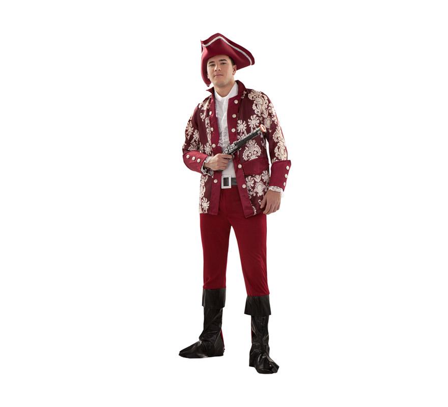 Disfraz barato de Lord Pirata Granate para chicos talla S