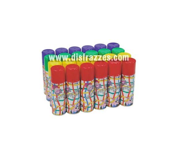 Bote 175 Spray Serpentina 83 ml.Colores surtidos. Precio por unidad.