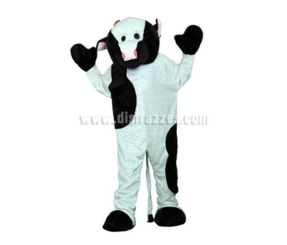 Disfraz o Mascota Vaca. Talla Universal de adultos. Incluye cabeza, mono con guantes y cubre zapatos. Perfecta para Grupos de Animación Infantil, Hoteles, etc.