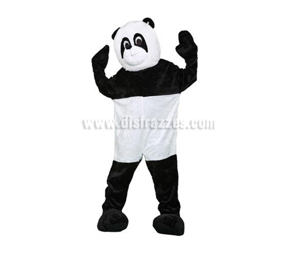 Disfraz o Mascota Oso Panda. Talla Universal de adultos. Incluye cabeza, mono con guantes y cubre zapatos. Perfecta para Grupos de Animación Infantil, Hoteles, etc.