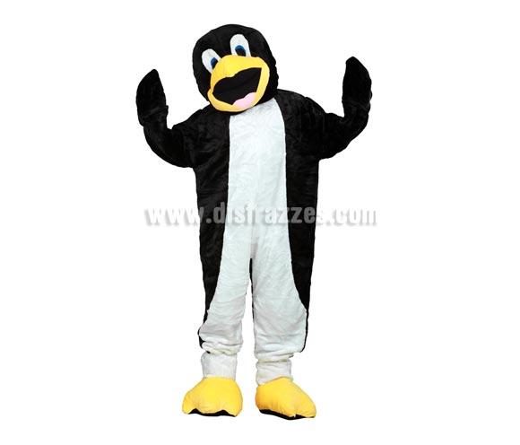 Disfraz o Mascota Pingüino. Talla Universal de adultos. Incluye cabeza, mono con guantes y cubre zapatos. Perfecta para Grupos de Animación Infantil, Hoteles, etc.