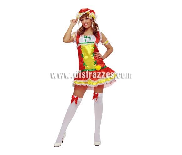 Disfraz Limón para mujer. Talla standar M-L = 38/42. Incluye vestido, gorro, brazaletes y ligas. Medias NO incluidas, podrás verlas en Complementos.