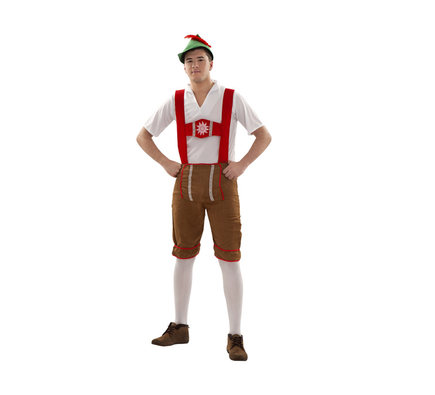 Disfraz barato de Tirolés para chicos talla S