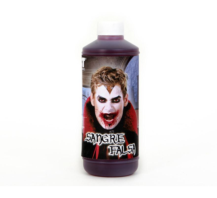 Botella de Sangre artificial de 500 cc. especial para Halloween. Producto NO tóxico apto para el uso profesional y doméstico, también para decoración de Halloween, por ejemplo para manchar una tela o disfraz.