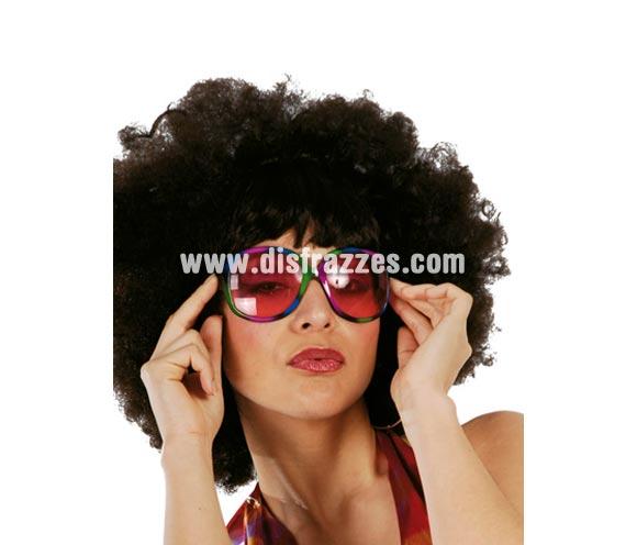 Gafas multicolor. Perfectas para disfraces de Hippies y de los años 60, 70 y 80.