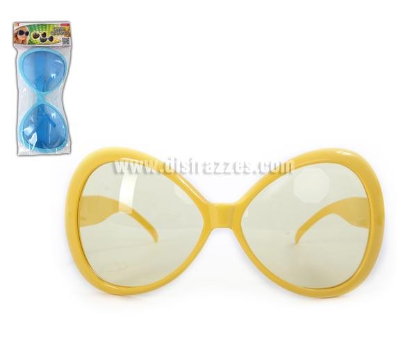 Gafas grandes. Disponible en 2 colores. Talla universal. Perfectas para disfraces de los Años 60, 70 y 80 y de Hippie. Precio por unidad, se venden por separado.