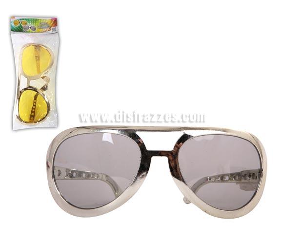 Gafas Elvis gigantes. Disponible en 2 colores. Precio por unidad, se venden por separado. Perfectas para disfraz de Rey del Rock y Discotequero. También para Despedidas de Soltero.