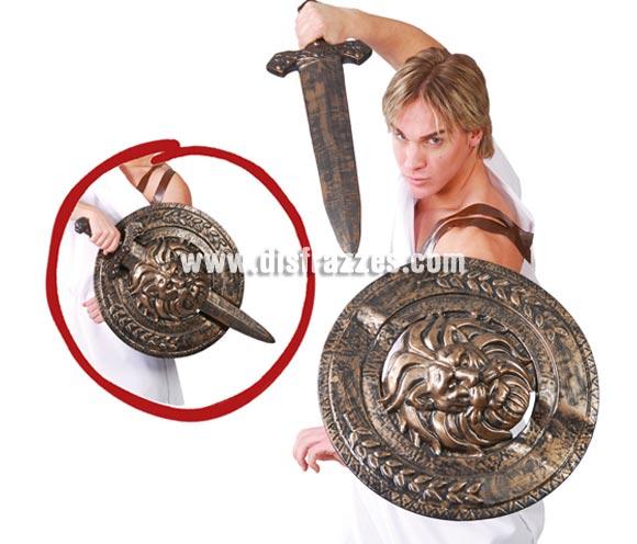 Escudo con espada de Gladiador 72 cm. También valdría como complemento de disfraces de Romano para Navidad.