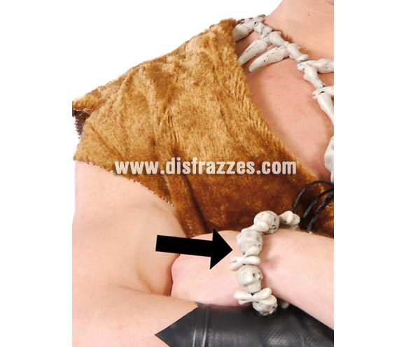Pulsera Calaveras y huesos. Perfecta para disfraces de  Trogloditas y Cavernícolas. También para disfraces de Pirata.