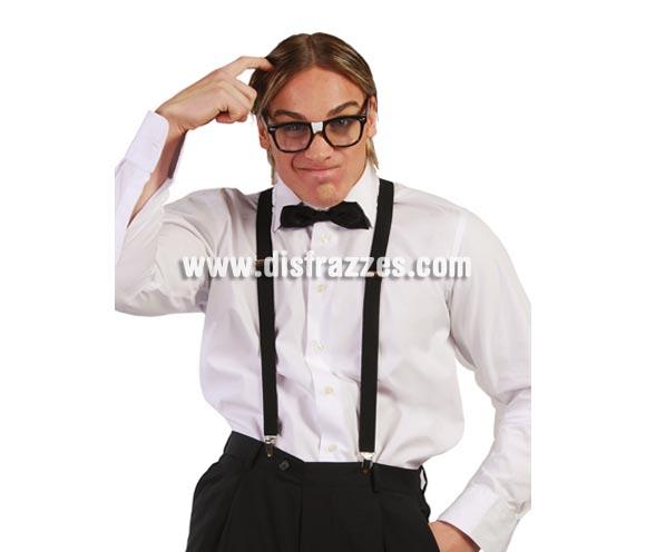Tirantes negros. Perfectos como complemento de los disfraces de Gánster, por ejemplo.