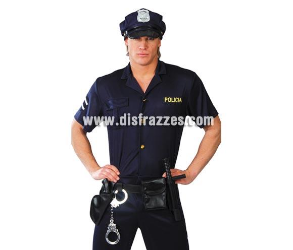 Cinturón de Policía con accesorios. Incluye pistola, bolsa, porra y esposas.