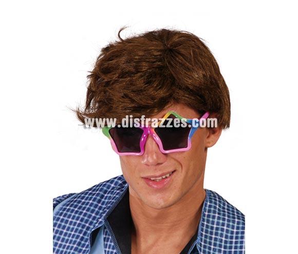 Gafas estrellas multicolor. Perfectas para disfraces de modernos de los años 60, 70 y 80 y para disfraces de Hippies.