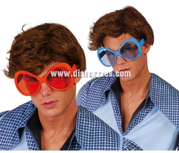 Gafas grandes. Colores variados. Perfectas para disfraces de los Años 60, 70 y 80. Precio por unidad, se venden por separado.