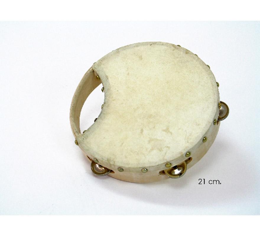 Pandereta Rociera de piel de cabra de 21 cms. Para cantar los mejores Villancicos en Navidad.