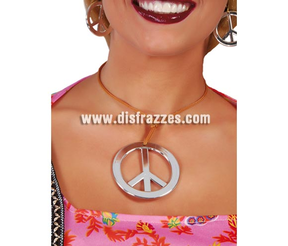 Collar de Hippie símbolo de la Paz.