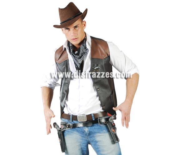 Cartuchera Vaquero o Pistolero doble con pistolas.