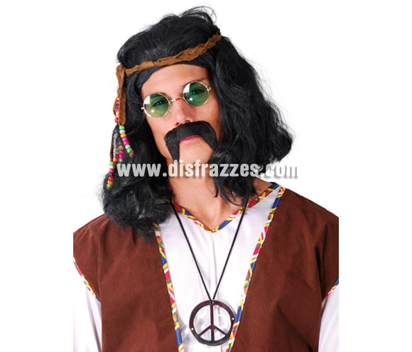 Collar símbolo de la Paz Hippie.