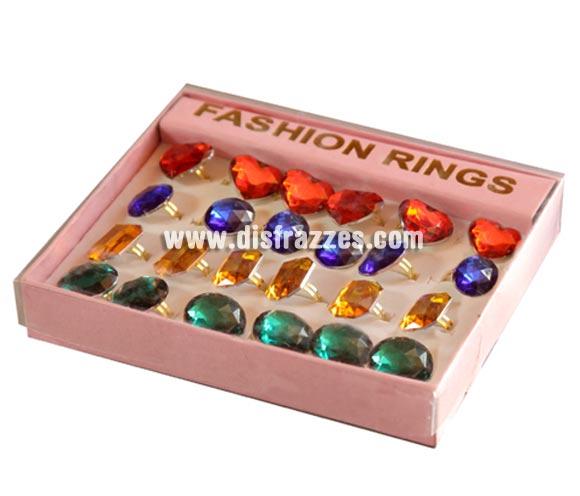 Anillo piedra preciosa. Colores variados. Precio por unidad, se venden por separado.